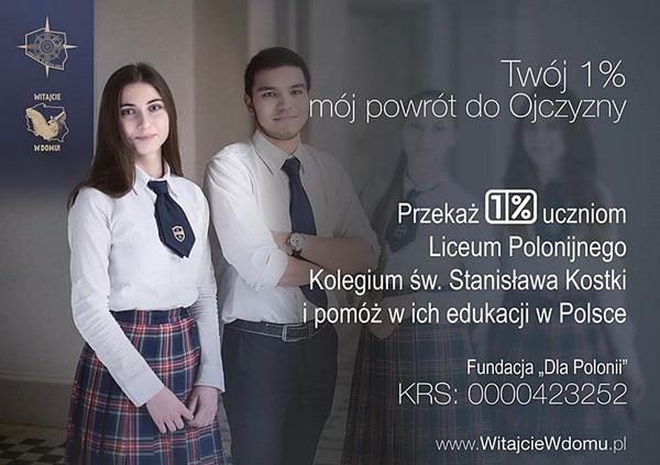 Ulotka od Fundacji Dla Polonii